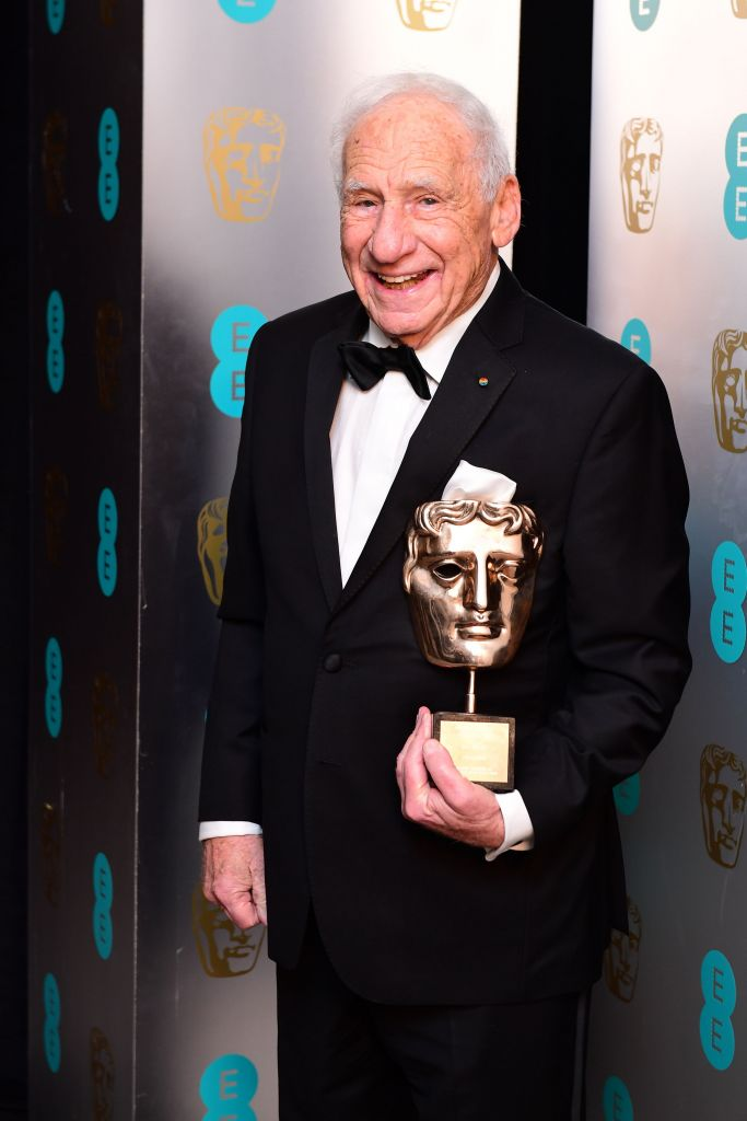 Mel Brooks with the Lifetime Achievement Award (Photo credit: Ian West/PA Wire)