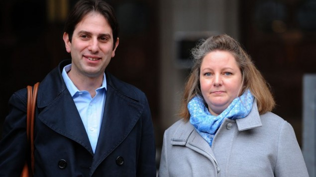 Rebecca Steinfeld and Charles Keidan outside the Royal Courts of Justice in London, where there will be ruling in the latest court action by the heterosexual couple fighting for the right to enter into a civil partnership. PRESS ASSOCIATION Photo. Picture date: Tuesday February 21, 2017. See PA story COURTS Partnership. Photo credit should read: Charlotte Ball/PA Wire