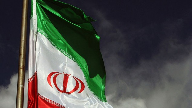 The Iranian national flag