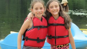 Two young campers at Camp Ramah