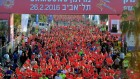 Runners take part in a marathon in Israel's coastal city of Tel Aviv February 26, 2016. (Flash90)