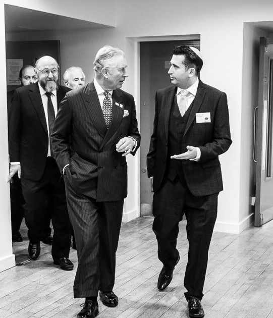 Neil with the Prince at Yavneh (Blake Ezra photography)