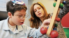 Jacob at occupational therapy with Darbie Rabinowitz.