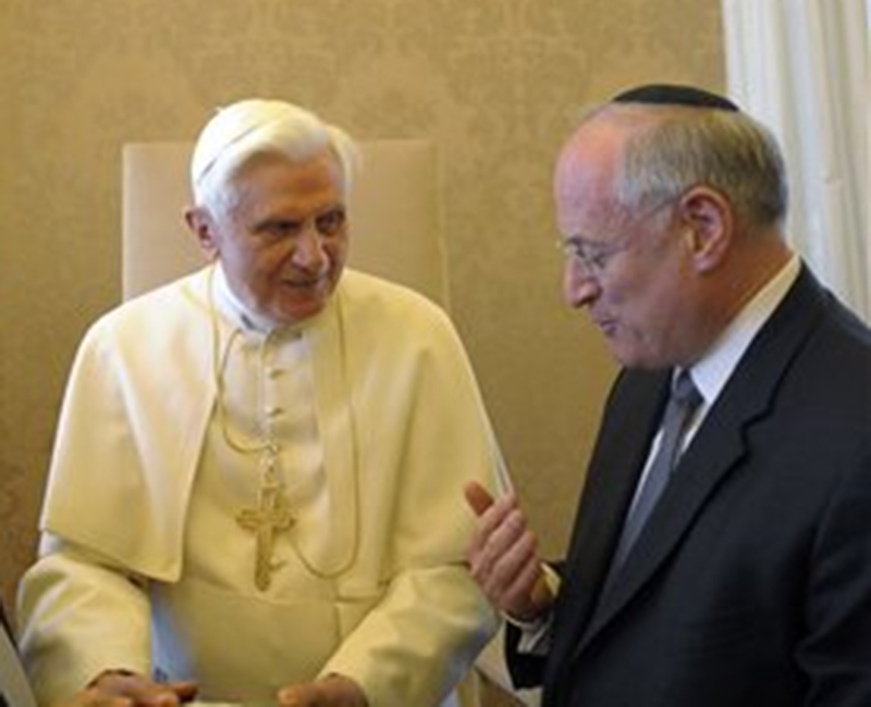 Malcolm Hoenlein with Pope Benedict XVI