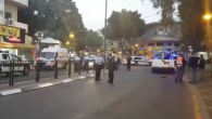 The scene after a terrorist attack in Petah Tikva, Israel, Feb. 9, 2017. (Screenshot from YouTube)