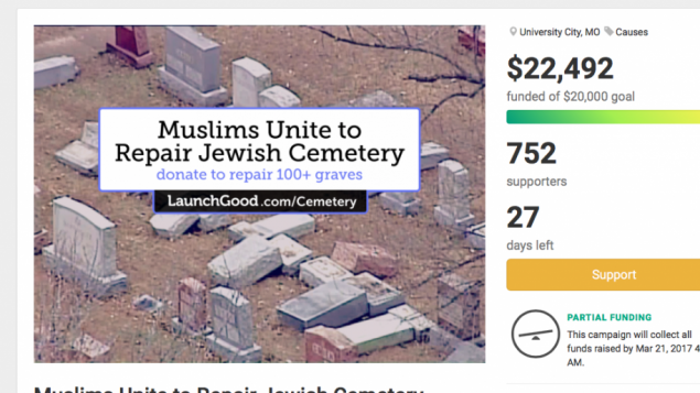 A screenshot of the fundraising campaign at $22,000