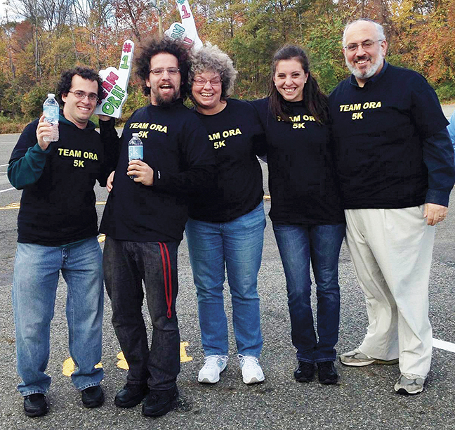 From left, Ora's son-in-law, Avi Kravitz; her son Eitan; Ora; her daughter, Shira Kravitz, and her husband, Rabbi Joseph Prouser.