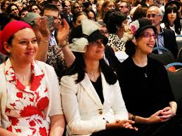 Yeshivat Maharat, which trains Orthodox Jewish women to be religious leaders, held its first graduation ceremony in NYC in 2013. Pictured here are the graduates. JTA
