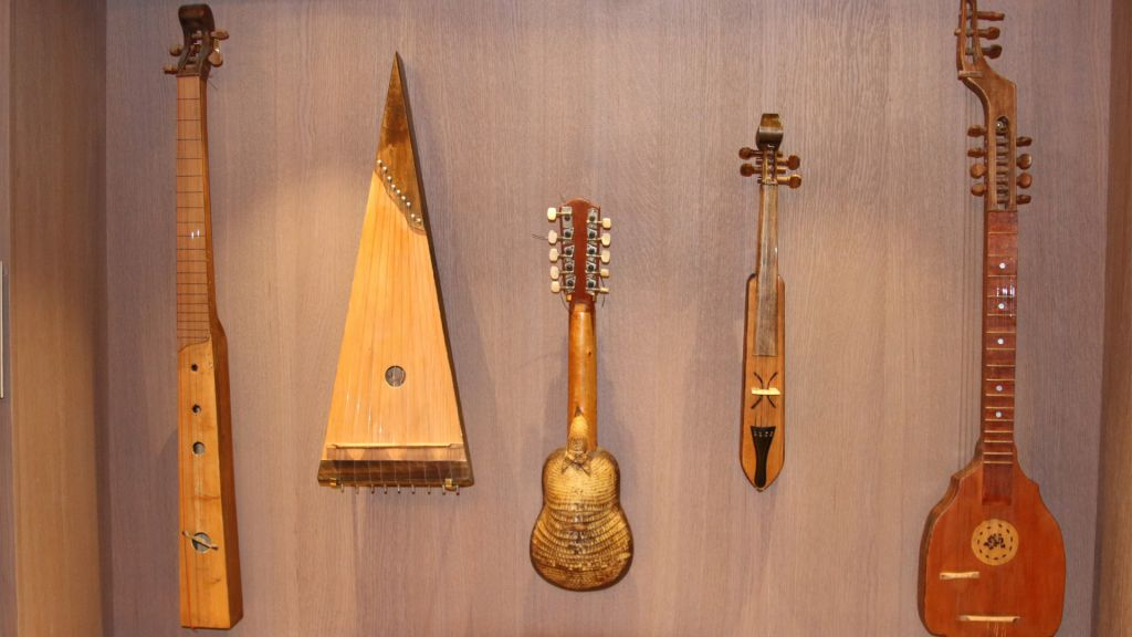 The Hebrew Music Museum features collections of instruments played by diaspora Jewry in different corners of the world. (Shmuel Bar-Am)