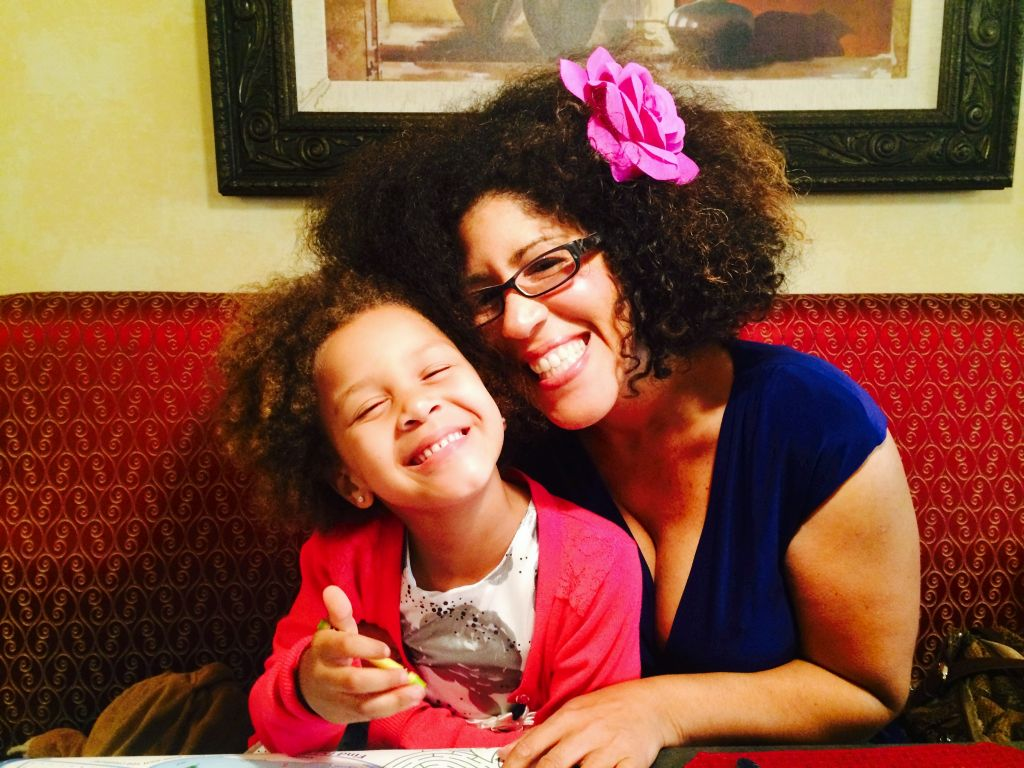 Rain Pryor with daughter Lotus, 8, named for her great-grandmother, Mama. (Courtesy)