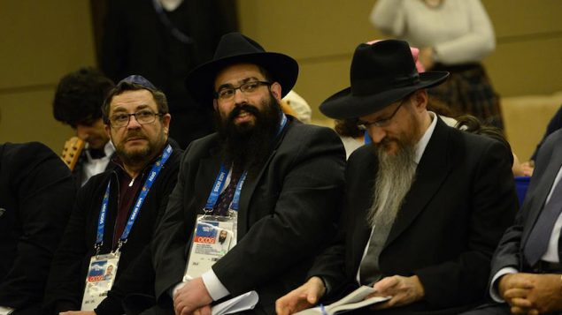 Rabbis Ari Edelkopf and Rabbi Berel Lazar.