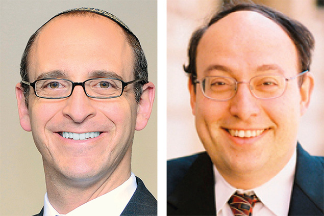 Rabbi Joel Pitkowsky, left, and Rabbi Nathaniel Helfgot