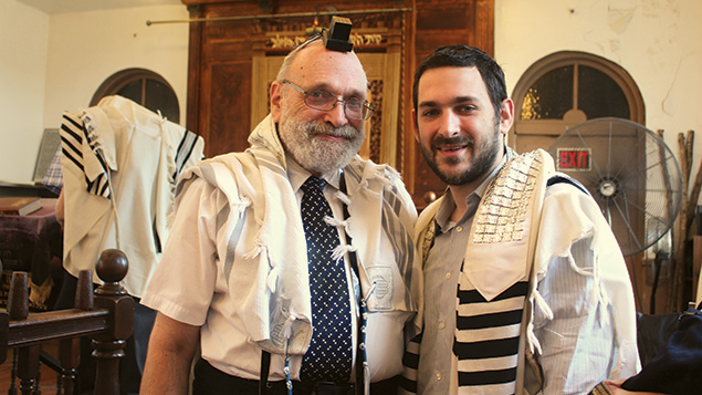 Rabbi Alvin, left, and Rabbi Sam Reinstein at the recent bris of Sam Reinstein's son, Leon. (Sam Reinstein)
