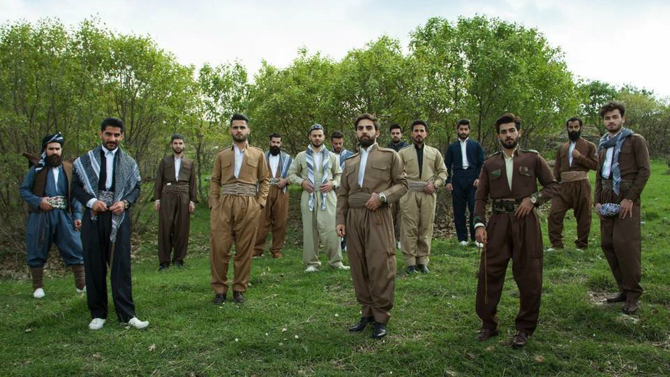 Mr. Erbil gentelmen's club members in traditional Kurdish dress, Iraqi Kurdistan, March 2016. ( Mustafa Khayat Photography MkStudio )