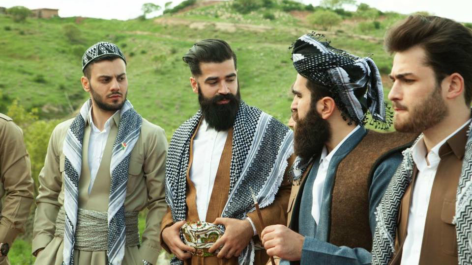Mr. Erbil gentlemen's club members celebrate Newroz, Iraqi Kurdistan, March 2016. (@mustafakhayat @mkstudio)