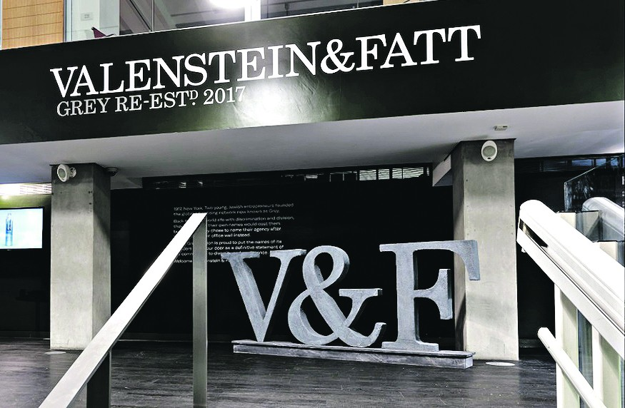 Grey London renamed after it's two Jewish founders, Lawrence Valenstein and Arthur Fatt