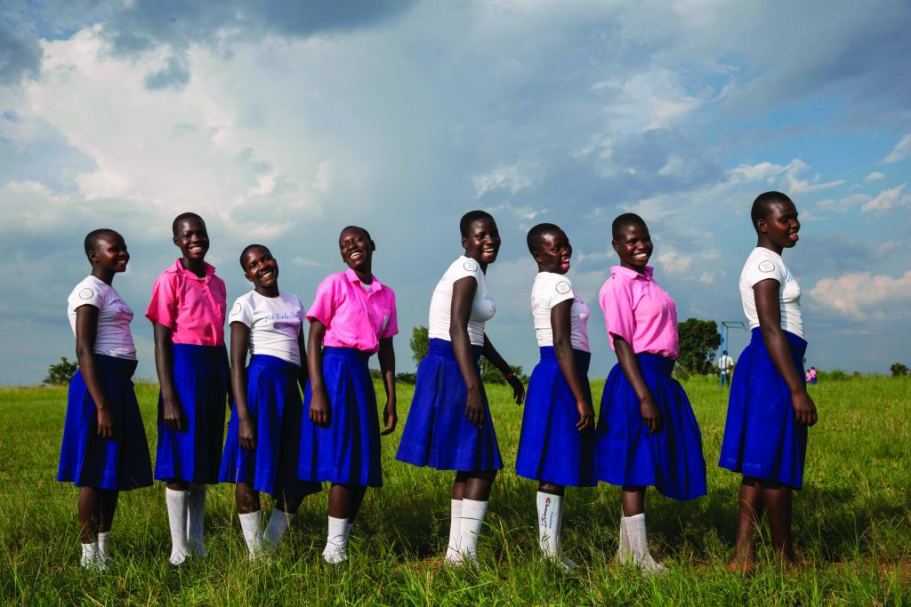 American Jewish World Service's support enables these Ugandan girls to stay in school and learn about their health and rights. (Jonathan Torgovnik)