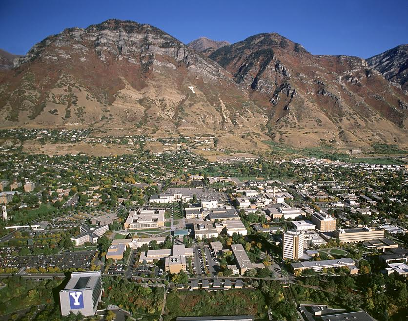 Aerial view of the Brigham Young University campus in Provo, Utah. (Mark A. Philbrick/BYU)