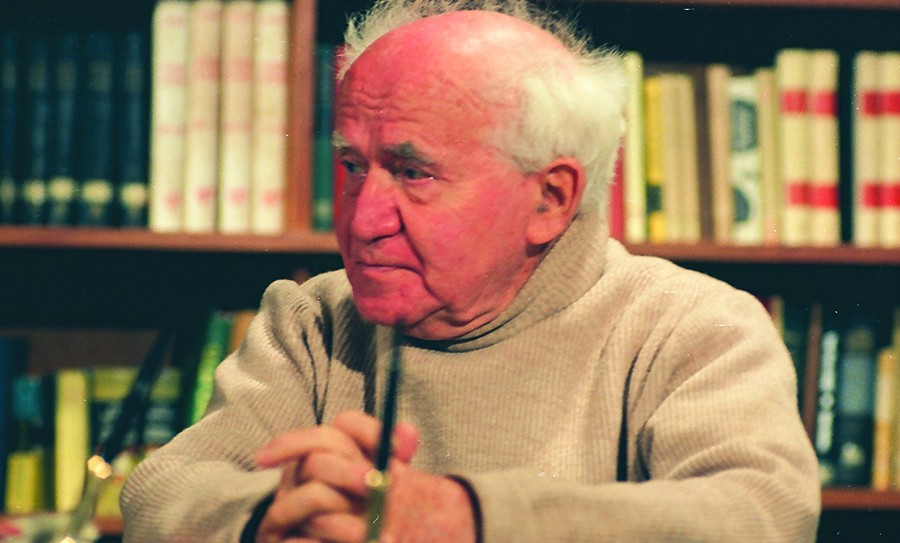 Ben-Gurion on the set of the 1968 Interview_Photo Courtesy of David Marks