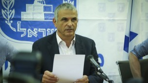 Finance Minister Moshe Kahlon during a press conference at the Finance Ministry in Tel Aviv on March 30, 2017. (Photo by Flash90)