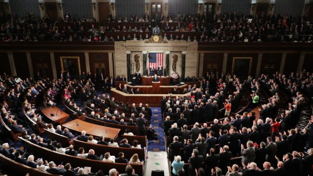 The U.S. Congress in session on February 28, 2017 in the House chamber of the U.S. Capitol in Washington, DC. Getty Images