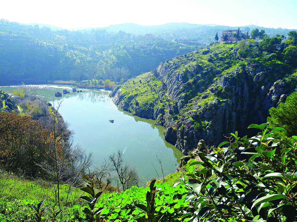 The gorge of the River Tagus at Toledo