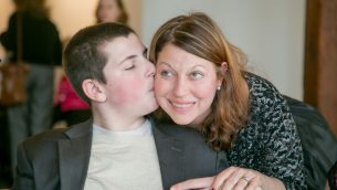 The author and her son. Courtesy of Gabrielle Kaplan-Mayer