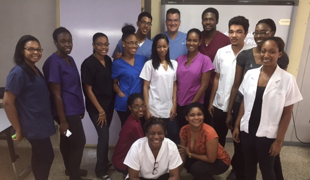The first cohort of 22 graduates from the University of Technology's College of Oral Health Sciences in Kingston, where Dr. Gary Glassman volunteers, are now all practicing dentists in Jamaica. (Courtesy)
