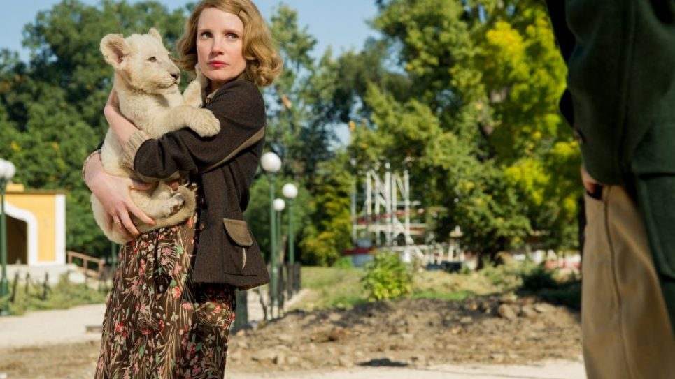 "Jessica Chastain in ""The Zookeeper's Wife."" Courtesy of Anne Marie Fox/Focus Features."