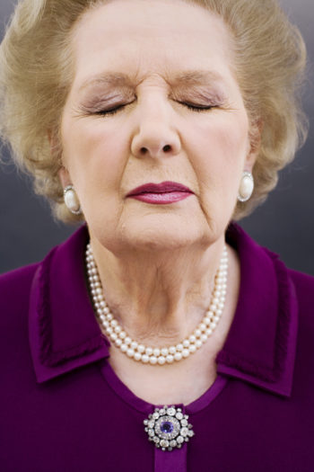 Borden took this iconic photograph of former UK Prime Minister Margaret Thatcher while on assignment for Time magazine in 2006. (Harry Borden)