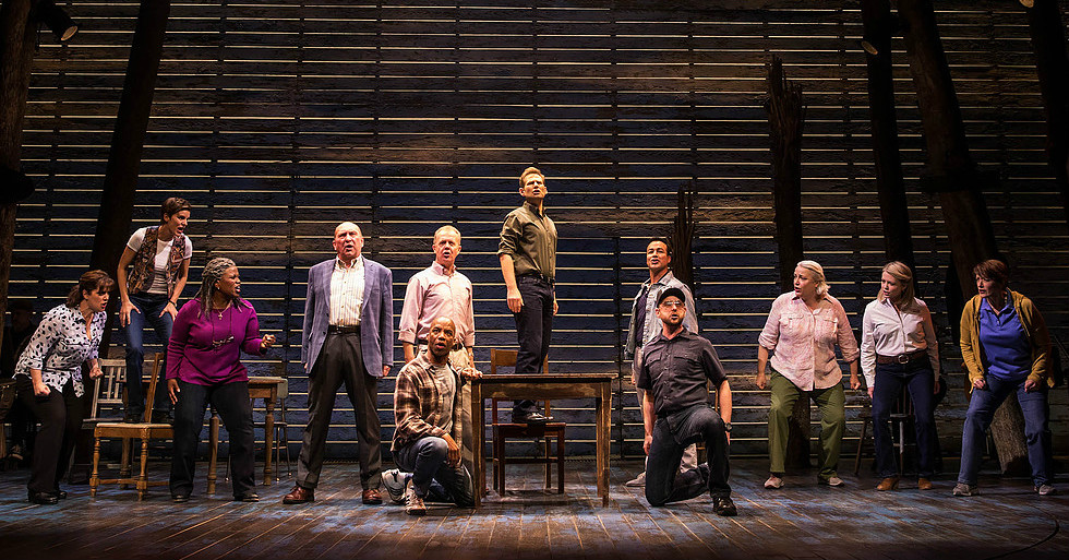 A still from 'Come From Away.' (Photo by Matthew Murphy/Courtesy Polk and Co.)