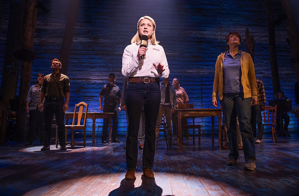 Kendra Kassebaum in 'Come From Away.' (Photo by Matthew Murphy/Courtesy Polk and Co.)