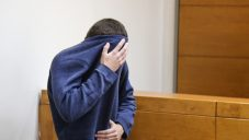 The teen being charged for over 100 JCC bomb threats sits at a court hearing at the Rishon Lezion Magistrate's Court, under suspicion of Issuing fake bomb threats against Jewish institutions around the world, on March 23, 2017. JTA