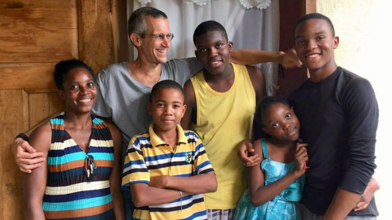 Professor Steven Werlin works with the Fonkoze (short for 'Shoulder-to-Shoulder) non-profit to help microfinance impoverished Haitian families. (Courtesy Fonkoze)