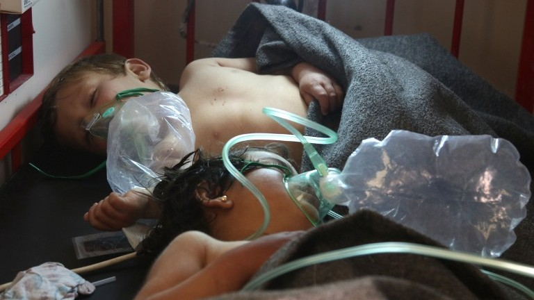 Syrian activists report gas attack, blame Assad