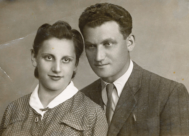 Tuvia Bielski and his wife, Lilka. The Bielski brothers' network saved 1,200 Jews in the Belarus forests.