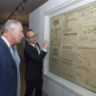 The Prince of Wales is shown Adolph Eichman's map during his visit to The Jewish Museum in Vienna, Austria on the ninth day of the his European tour. PRESS ASSOCIATION Photo. Picture date: Thursday April 6, 2017. See PA story ROYAL Tour. Photo credit should read: Arthur Edwards/The Sun/PA Wire