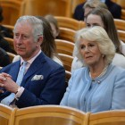 The Prince of Wales and Duchess of Cornwall listen to an orchestra play at the Musikverein concert hall in Austria on the ninth day of their European tour. PRESS ASSOCIATION Photo. Picture date: Thursday April 6, 2017. See PA story ROYAL Tour. Photo credit should read: John Stillwell/PA Wire
