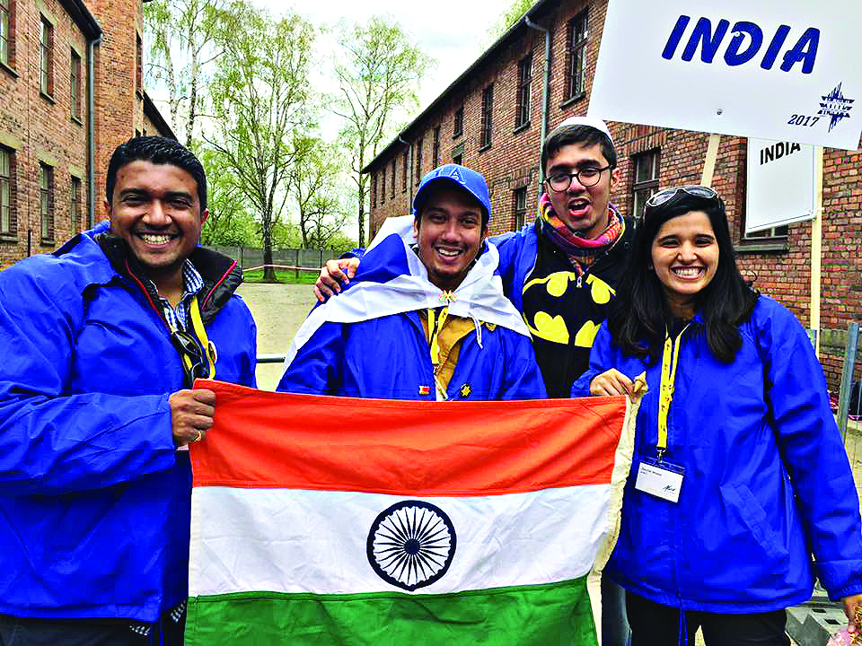 The Indian delegation at March of the Living