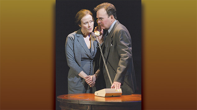 Jennifer Ehle and Jefferson Mays as the Norwegian couple trying to bring the Mideast parties to the negotiating table.
