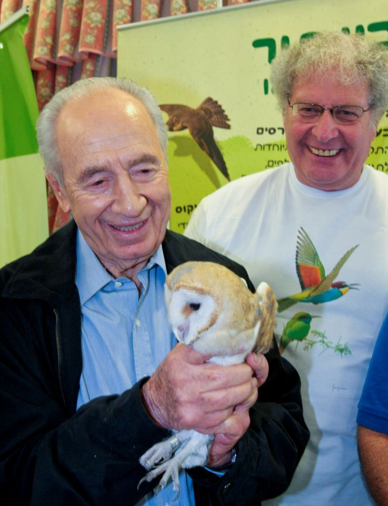 Late Israeli president Shimon Peres with Barn Owls