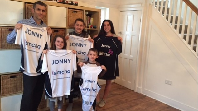 Jonny Phillips will be running for Camp Simcha