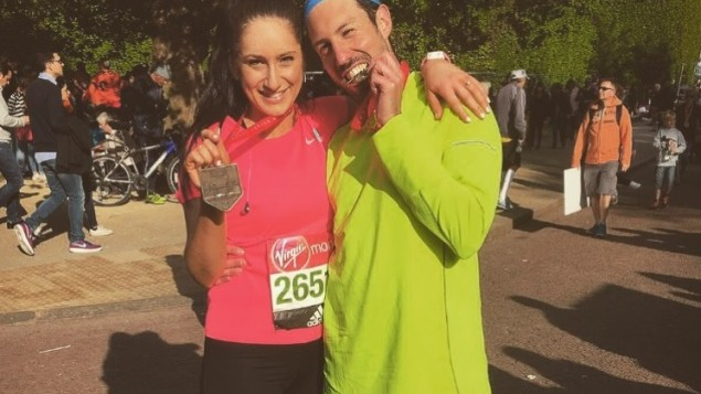 Charlotte Hamilton & Ben Menahem ran for both Chai Cancer Care and Jewish Women's Aid