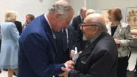 Holocaust survivor, Harry Bibring meets TRH the Prince of Wales during Austria visit
