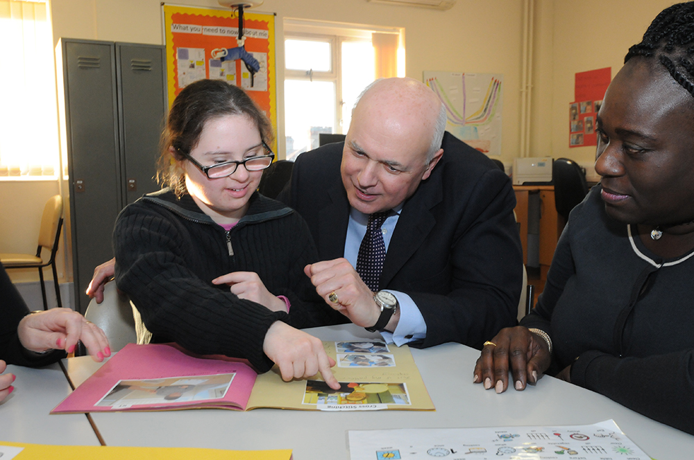 MP Iain Duncan Smith at the opening of Kisharon's further education facility in Stamford Hill