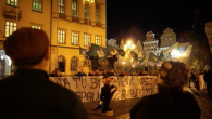 An anti-Semitic demonstration in November 2015, in which a effigy of a chasidic Jew was burned.