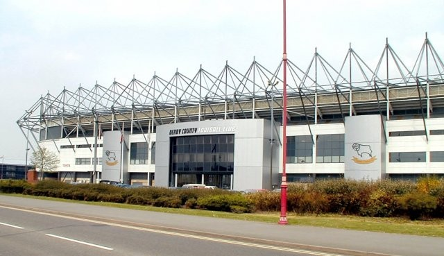 Derby County soccer club's Pride Park Stadium