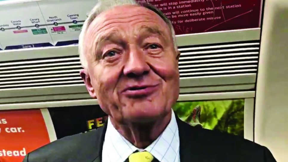 Ken On the tube, being interviewed by the Jewish News's Justin Cohen