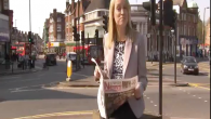 Sky News presenter Sophy Ridge reading the Jewish News in Golders Green