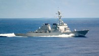 Le destroyer USS Mahan en septembre 2002 (Crédit : Domaine public/ Mate Airman Rex Nelson, US Navy/Wikipedia)